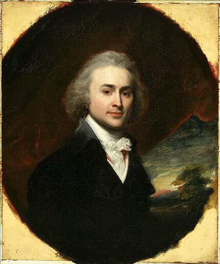 John Quincy Adams, the Sixth President, with long hair.