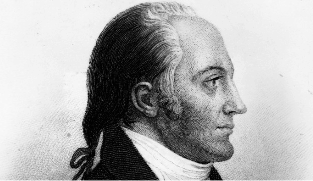 Aaron Burr, the Third Vice President, with long hair.