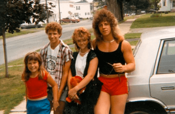 Long hair and short shorts—cool since 1978