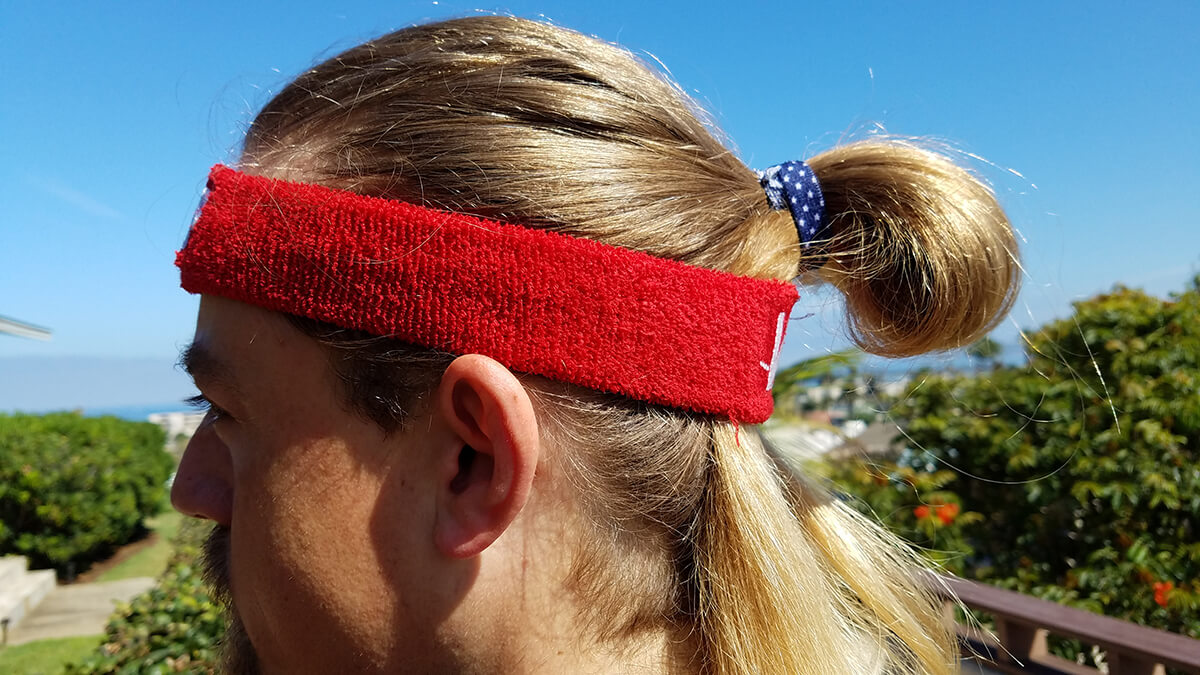 Long hair head band