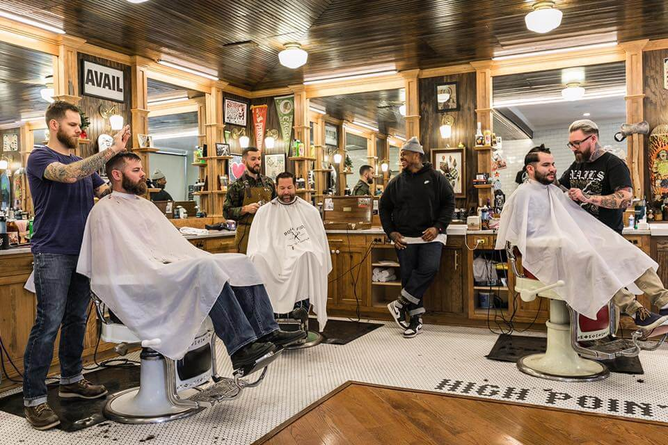 boys at the barber shop