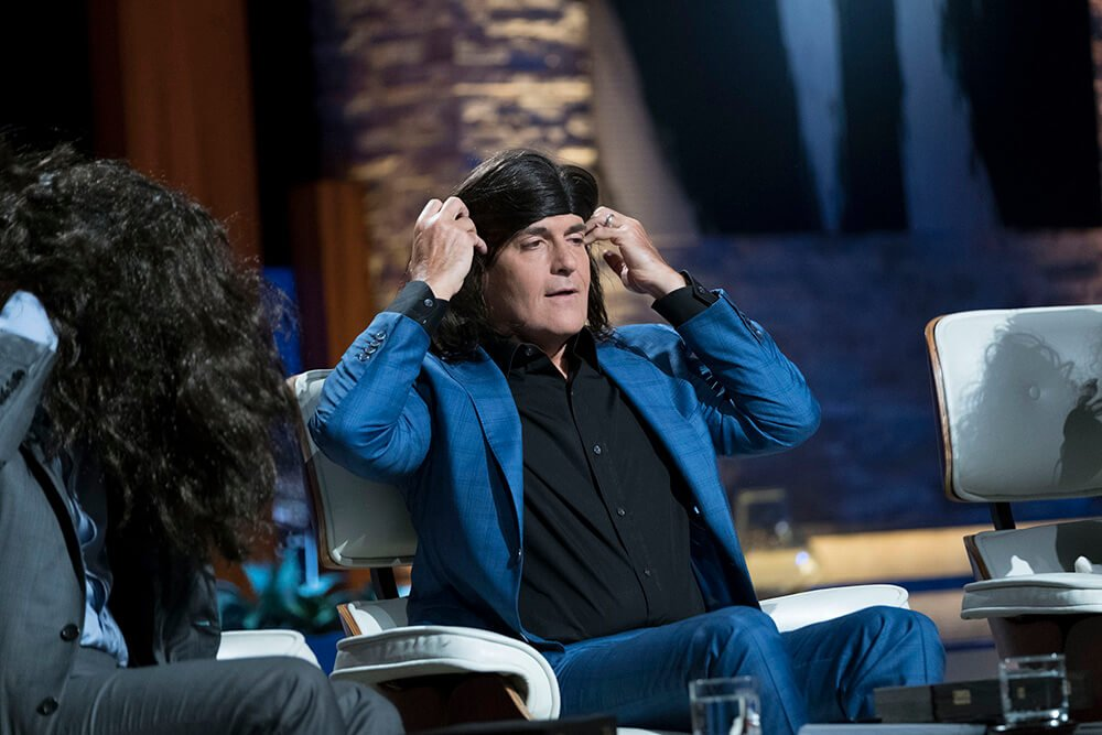 Mark Cuban with wig Shark Tank | The Longhairs