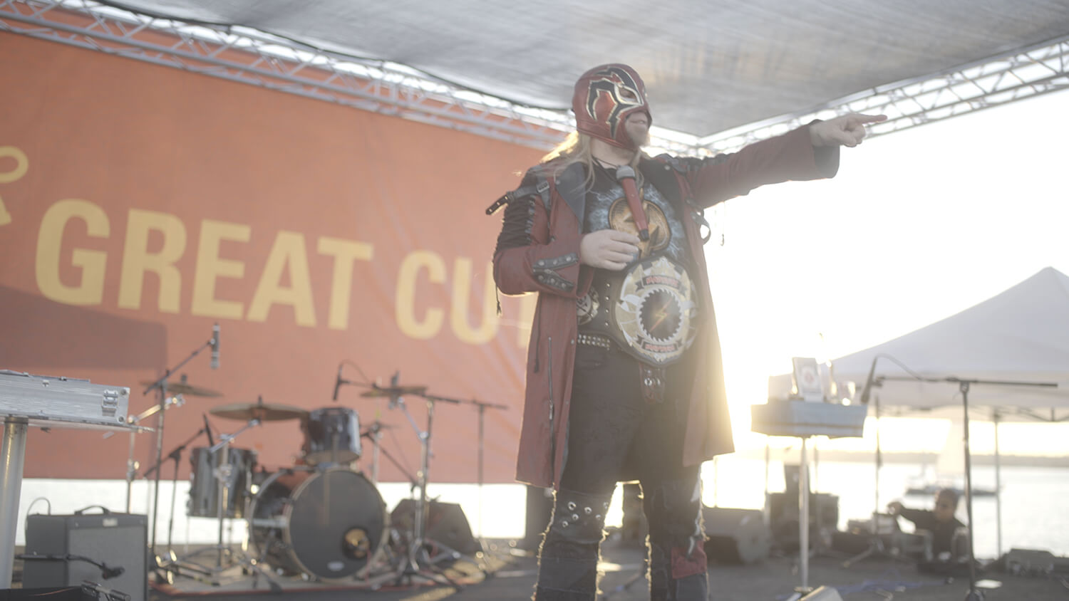 The Shocker with his championship belt at The Great Cut