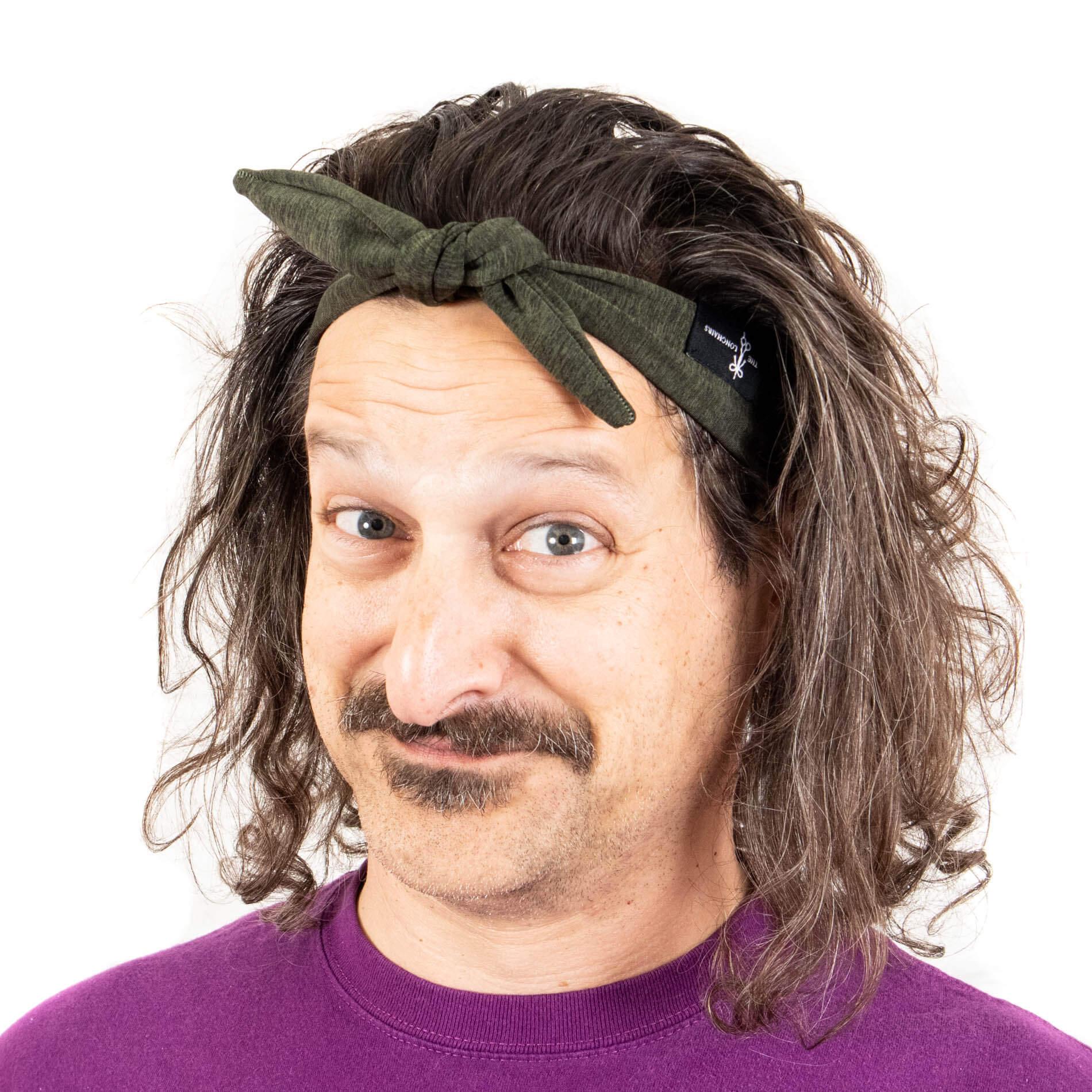"""""""The Vining"""" Green Tieback Headband For Men"""