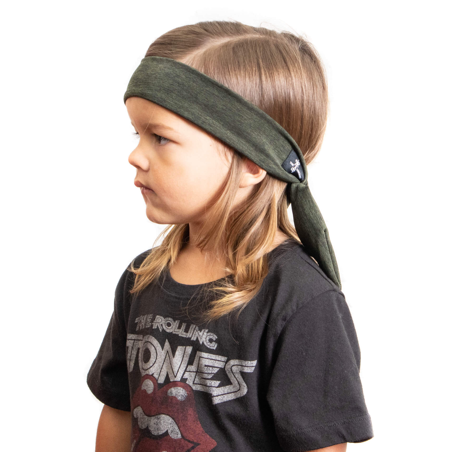 """The Vining"" Green Tieback Headband for little guys with long hair"