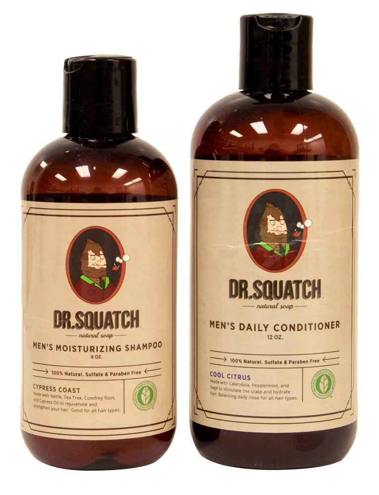 Dr. Squatch reviewed in a shampoo & conditioner review for men