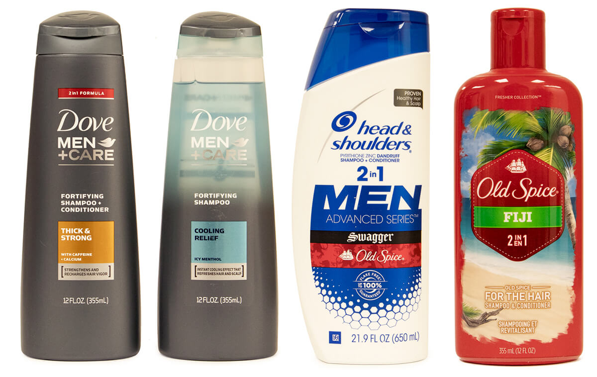 Dove Men+Care, Old Spice and Head & Shoulders reviewed in a shampoo & conditioner review for men