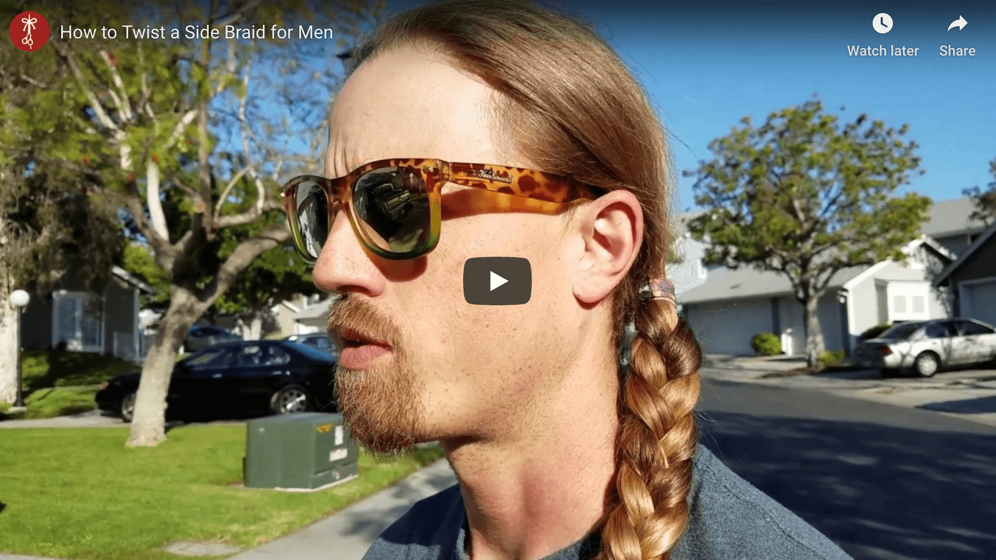 How to Twist a Side Braid for Men