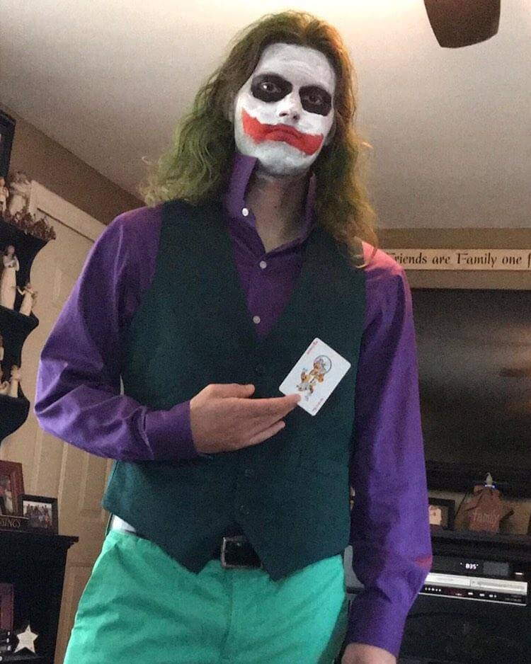 Halloween Costumes For Men With Long Hair - The Joker