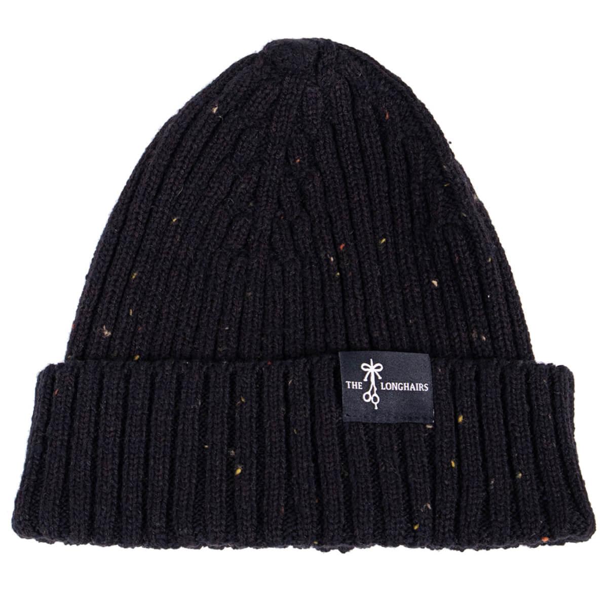 Black Merino Wool Beanie
