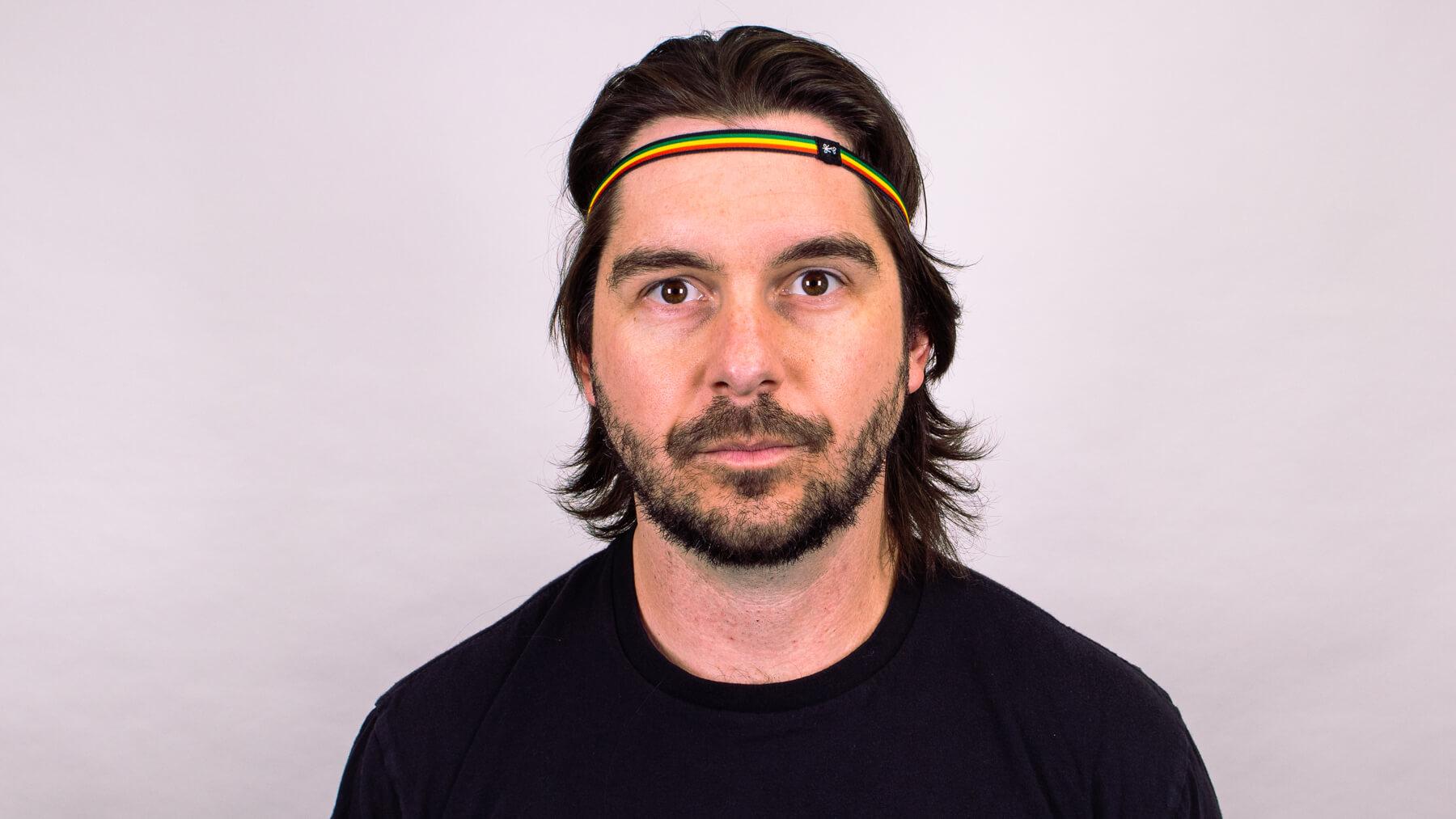 Thin headband front view