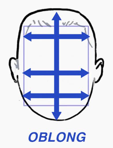 Diagram of oblong face shape