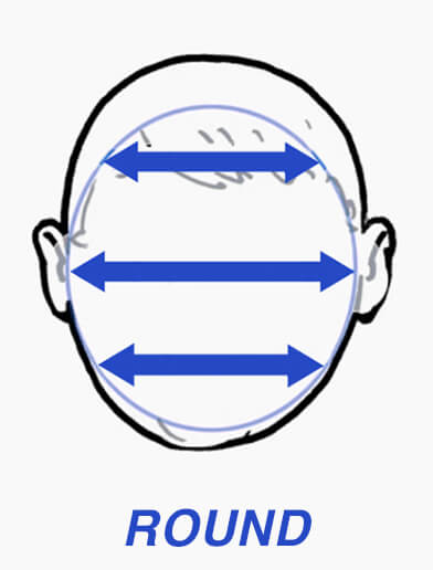 Diagram of round face shape