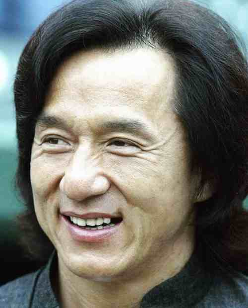 Jackie Chan mature hairline