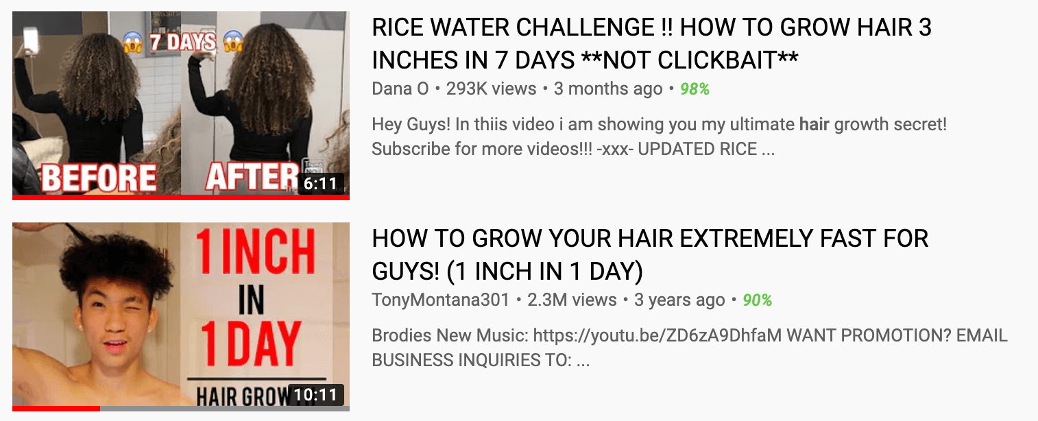 Hair Hype Formulas That Do Not Work