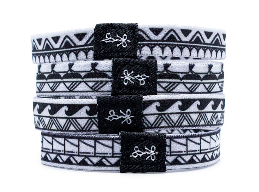 """Jose Mejia coined the name, """"The Big Manas,"""" for these sleek and stylish hair ties."""
