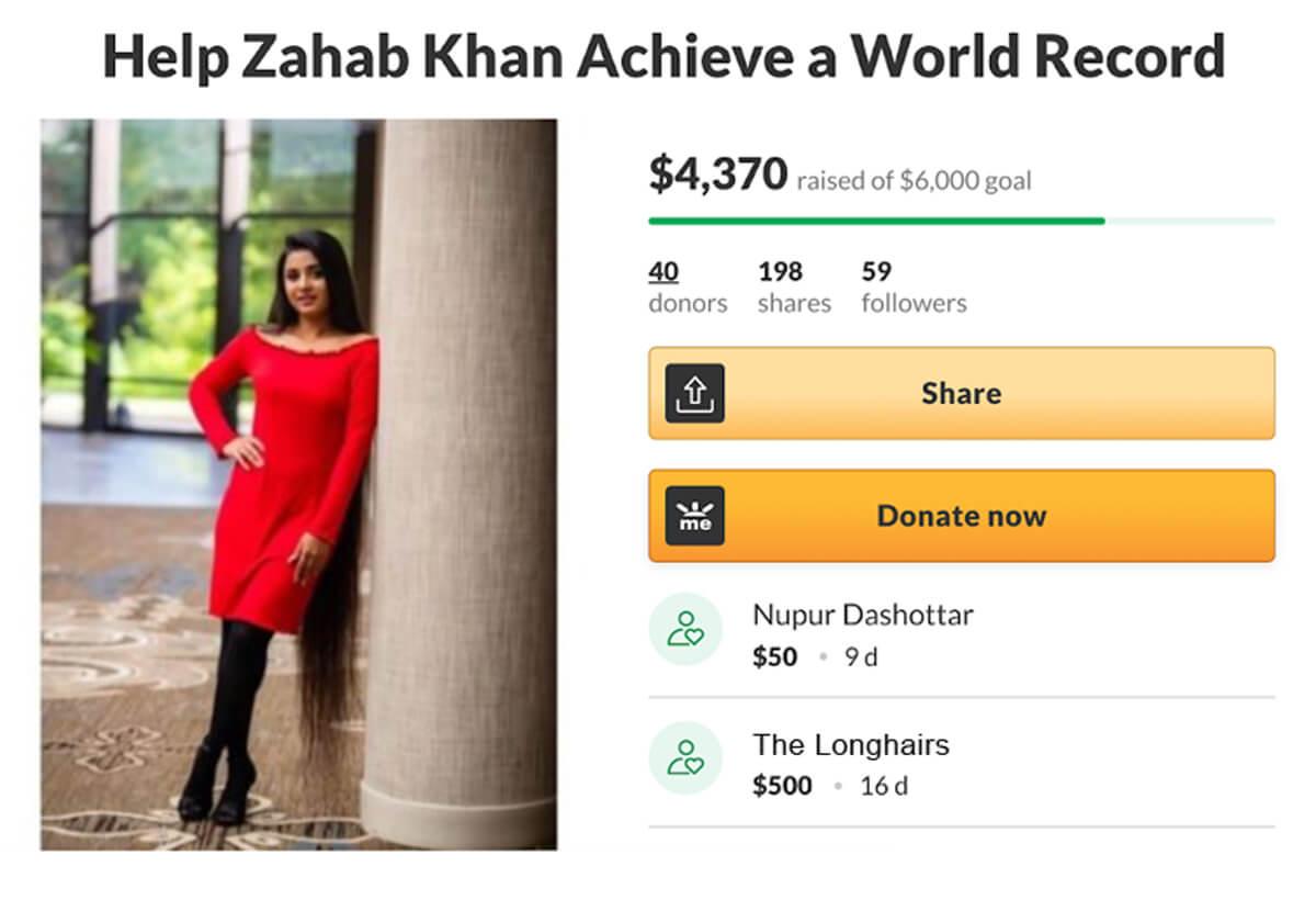 Zahab Khan's GoFundMe