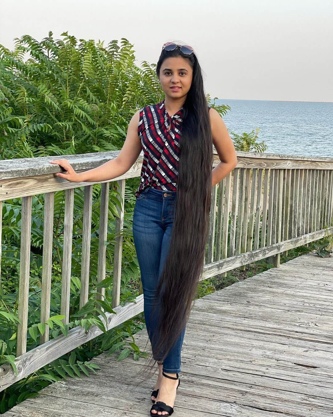 Zahab Khan showing off her incredible hair length